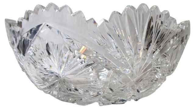 Antique Cut-Glass Serving Bowl