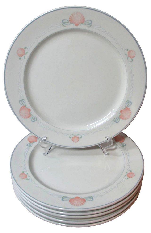 Villeroy Shell Dinner Plates, S/6