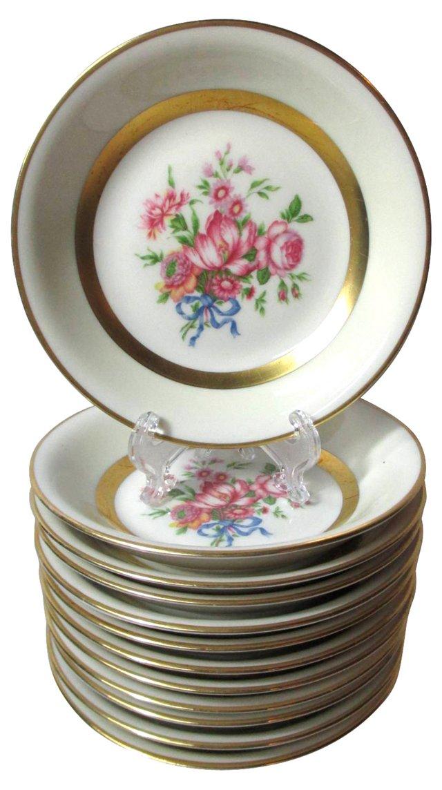 Spring Bouquet Dessert Bowls, S/12