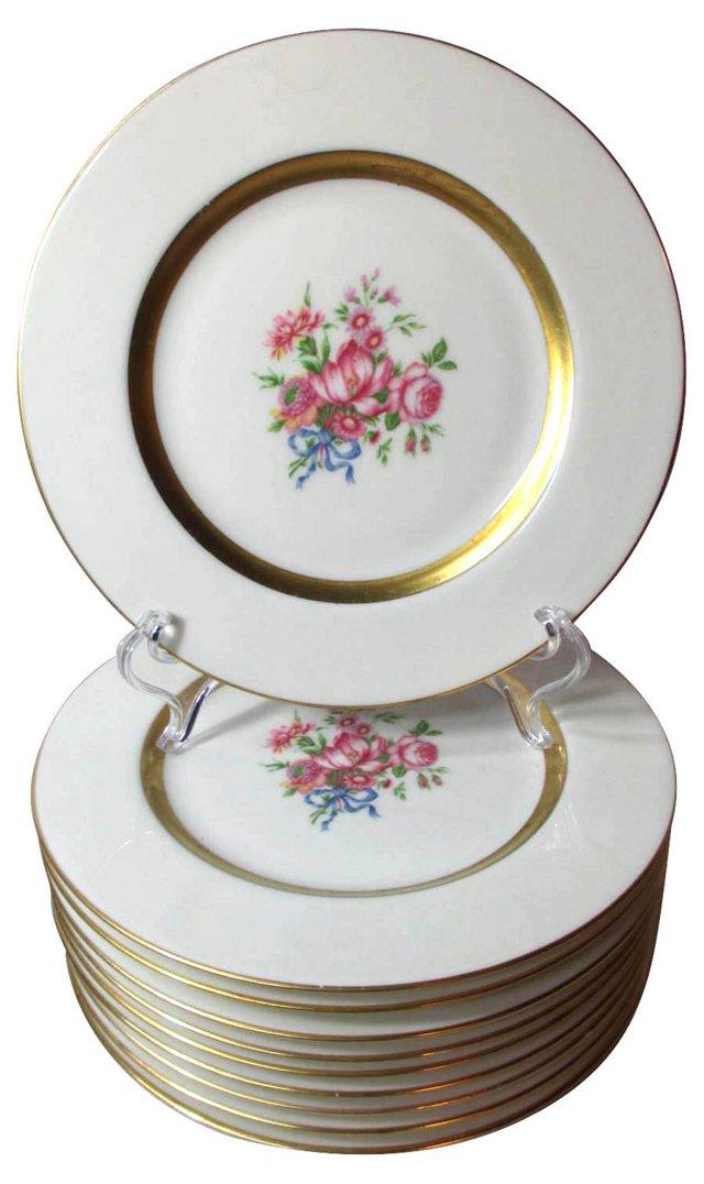 Spring Floral Dessert Plates, S/10