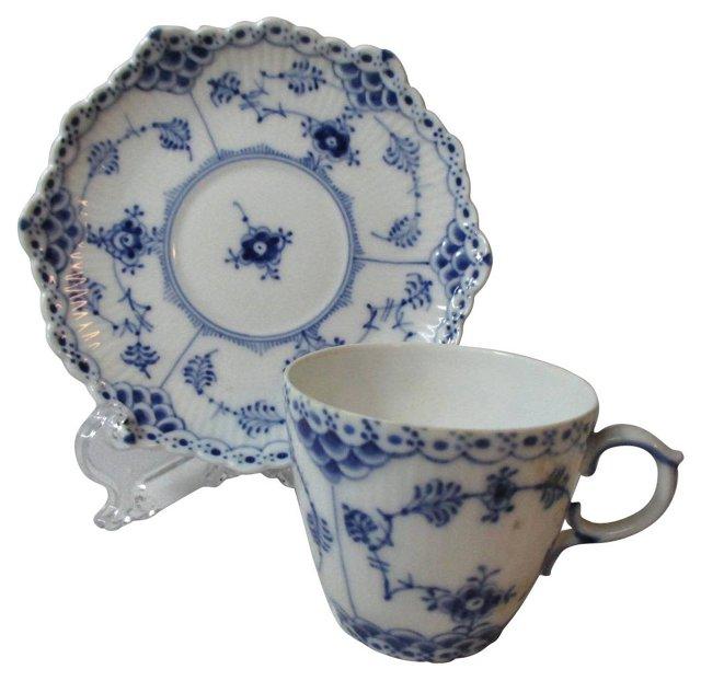 Royal Copenhagen Blue Lace Cup & Saucer