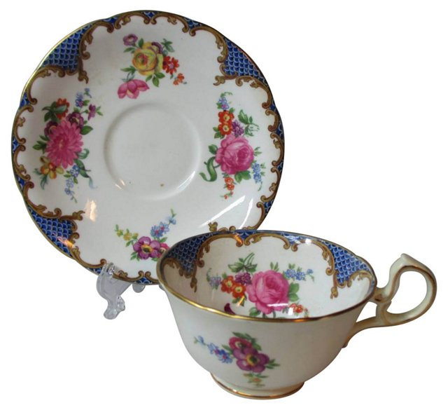 Early Aynsley Floral Cup & Saucer