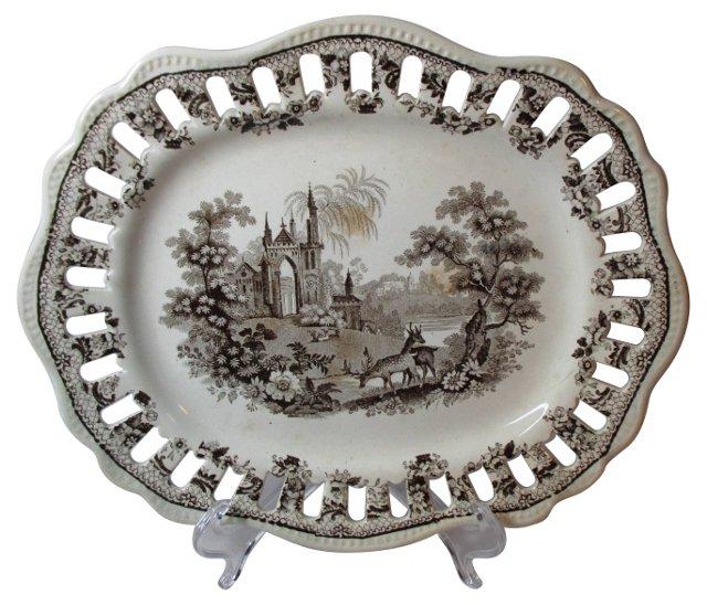 Staffordshire Pierced Border Platter