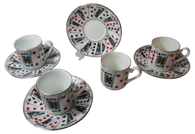 Tiffany   Cups & Saucers, Svc. for 4