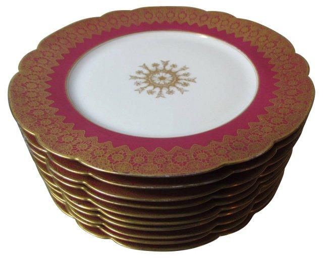 Limoges    Dinner Plates, S/10