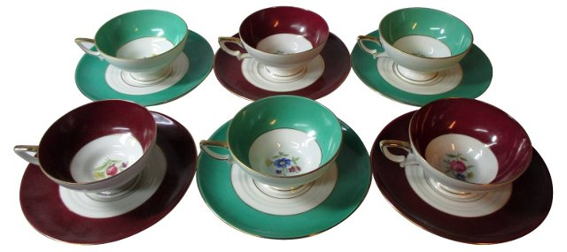 Rosenthal Cups & Saucers, S/6
