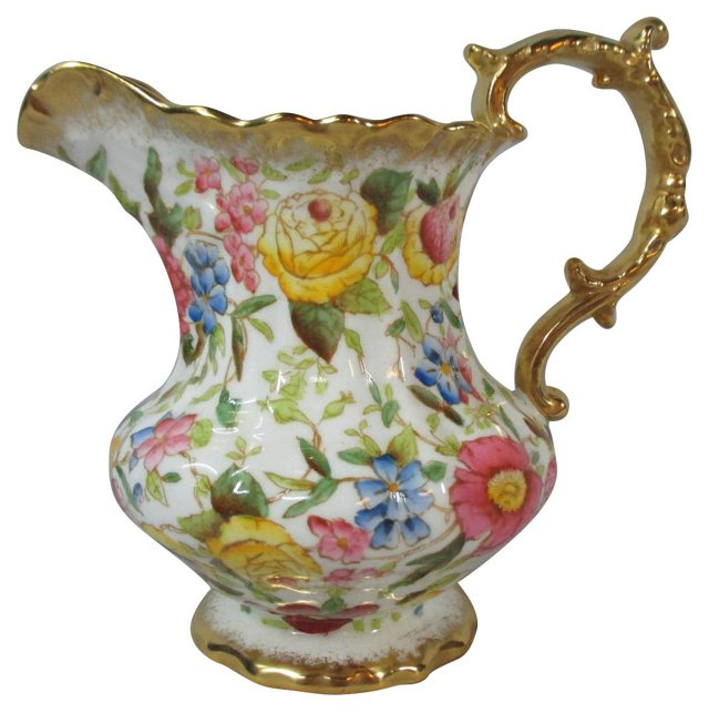 Hammersley Floral & Gold Pitcher