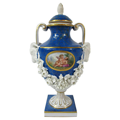Sèvres Hand-Painted Scenic Urn