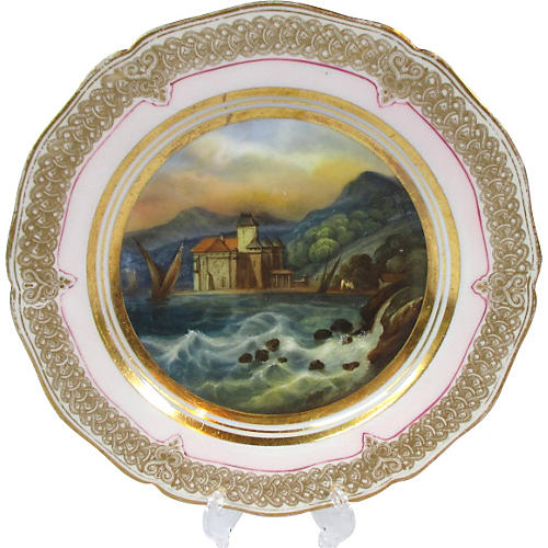Old Paris Scenic Chateau Wall Plate