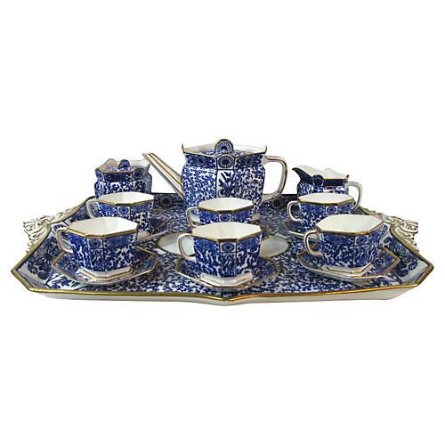 English Flow Blue Aesthetic Tea Set,S/16