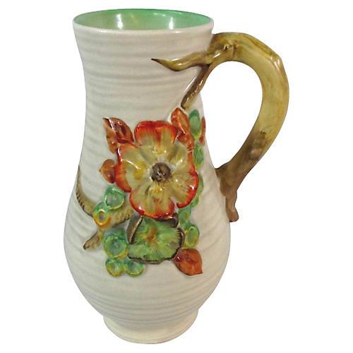 Clarice Cliff Pottery Twig Handle Jug