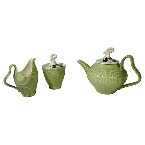 Red Wing Pottery Tea Set, S/3