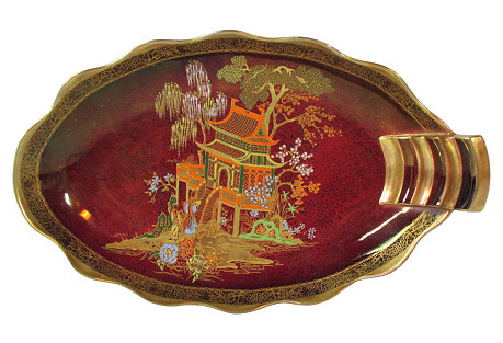 English Chinoiserie Pagoda Accent Dish