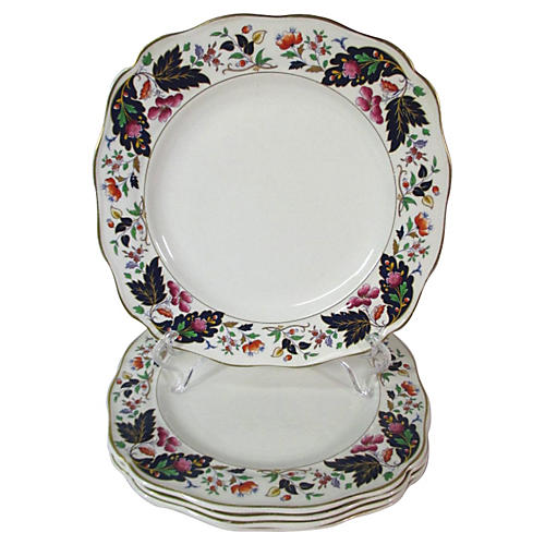 English Square Lunch Plates, S/5