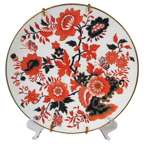 English Polychrome Wall Plate