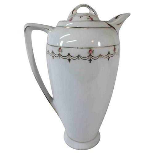 Roses & Gold Porcelain Teapot