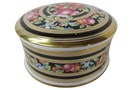 Wedgwood Floral & Gold Round Box