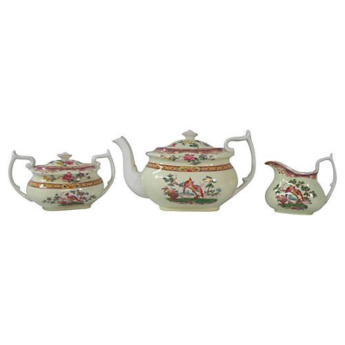 Spode Chinoiserie Tea Set, S/3