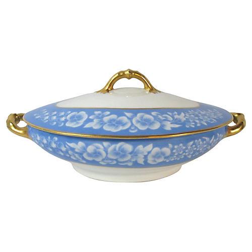 Haviland Limoges Blue & White Tureen