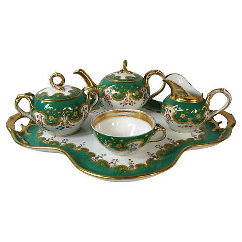 Old Paris French Tea Set, 5-Pcs