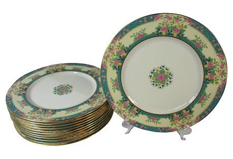 Lenox Spring Floral Dinner Plates, S/12