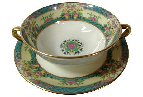 Lenox Cream Soup Bowls, S/12, 1928