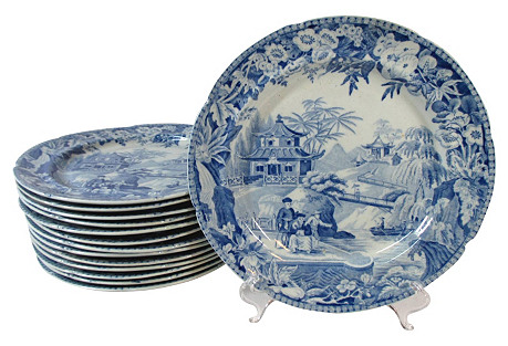 Staffordshire Pagoda Plates, S/14, 1805