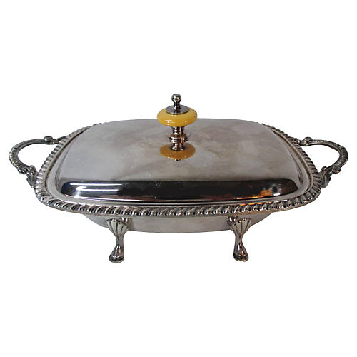 Sheffield Silver-Plate Footed Server