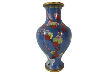 Chinese Cloisonné Cherry Blossom Vase