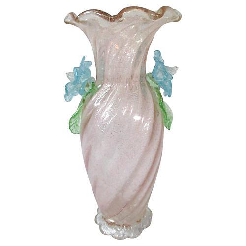 Antique Venetian Pale Pink Vase