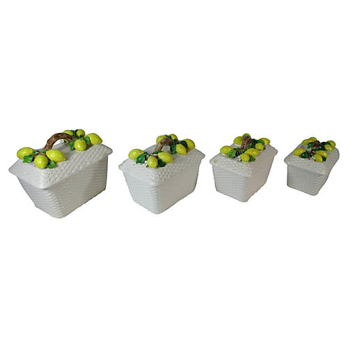 Lemons & Branches Canister Set, S/4