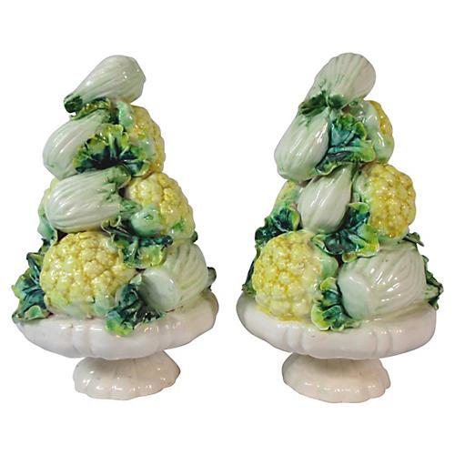 Italian Vegetable Topiaries, Pair