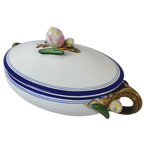 English Lotus Porcelain Tureen, 1875
