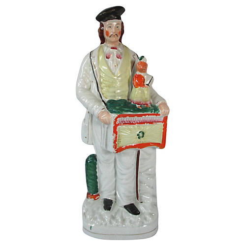 Organ Grinder Staffordshire Figure