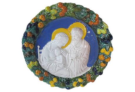 Della Robbia Decorative Wall Plaque