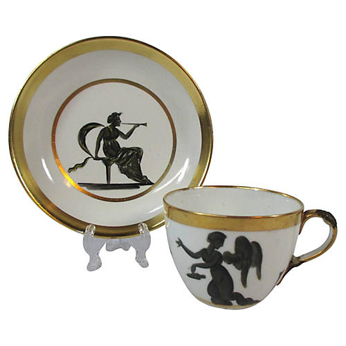 Classical Lady Italian Cup & Saucer
