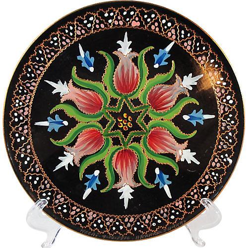 Italian Copper / Enamel Cabinet Plate