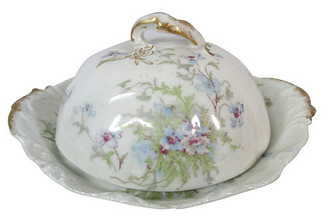 Limoges Butter & Cheese Dish, 3-Pcs