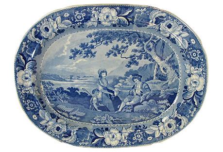 Staffordshire Pastoral Platter, C. 1810