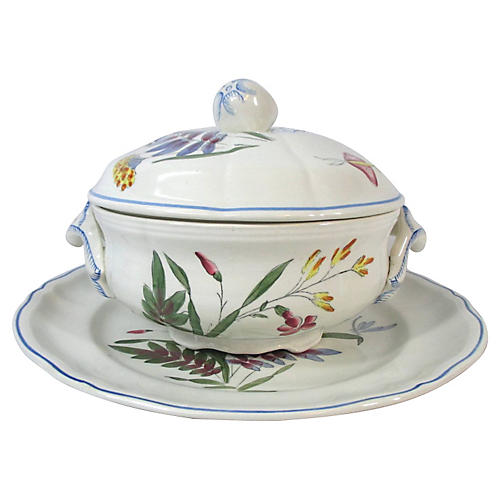 French Faience Serving Set, S/2