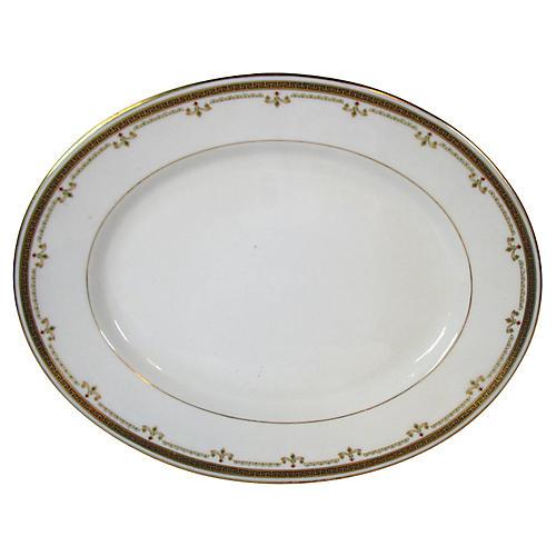 Limoges Gold Geometrics Platter