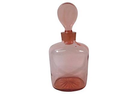 Pink Depression Glass Decanter