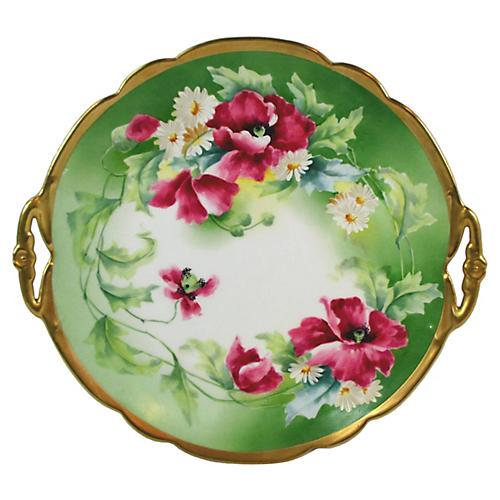 Limoges Floral Plate