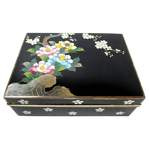 Antique Japanese Cloisonné Box
