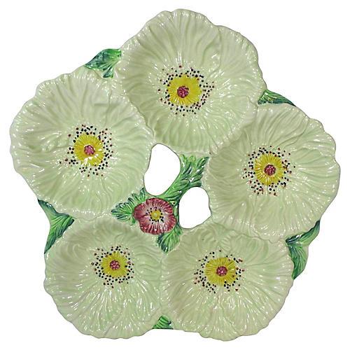 1960s English 5-Section Flower Platter