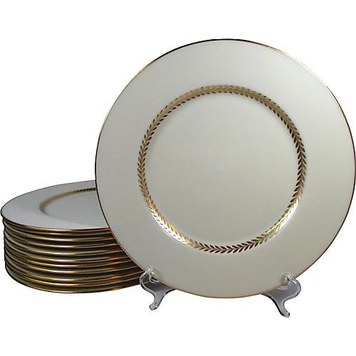 Lenox Cream & Gold Dinner Plates, S/12