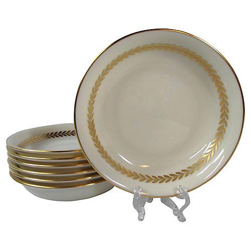 Lenox Cream & Gold Dessert Bowls, S/8