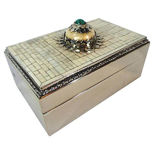 Chrome & Stone, Cigar Humidor Box