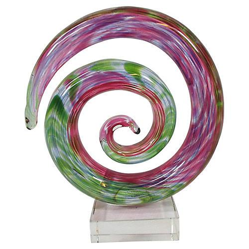 Murano Art Glass Circular Sculpture