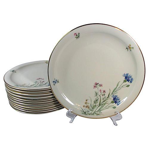 Floral Dinner Plates, S/12